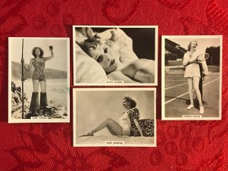 1939 British American Tobacco 4 Card Subset - Modern Beauties - Pin Up - Risque - Ex,