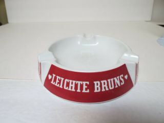 Leichte Bruns Quality Cigar Ceramic Ashtray Made In Germany,  5 Inches Wide