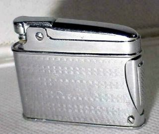 Vtg 1950s Japanese Side Squeeze Petrol Lighter W Sparks & Quick Refill Port