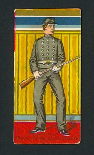 Private Orphan Cadets,  Phila.  Pa.  1888 N224 Kinney Bros.  Military Series - Vg - Ex