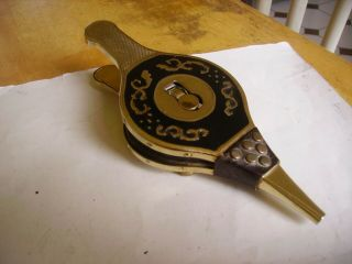 Vintage Table Cigarette Lighter In The Form Of Hand Bellows 1950s - 1960s.