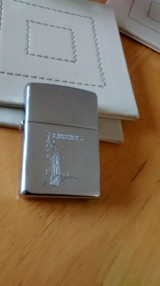 Very Good,  Engraved (liberty) Zippo Lighter,  Strikes Well,  Solid