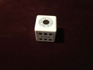 Vintage Rare White Dice Cube Butane Lighter
