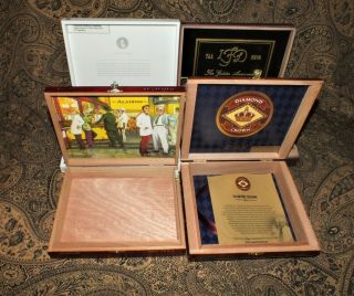 Diamond Crown Partagas & More Wooden Cigar Boxes Purses Crafts Storage