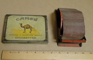 Vintage Camel Tin For 50 Cigarettes,  Brown & Williamson Cigarette Roller