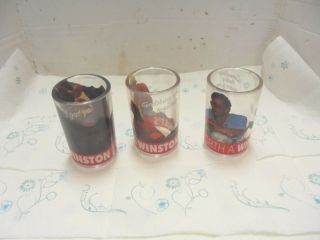 3 Hard Plastic Glasses Winston Cigarettes What