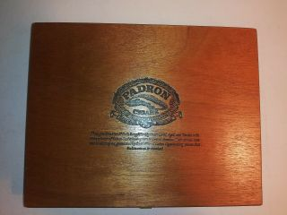 Padron Cigar Box - Wood Executive