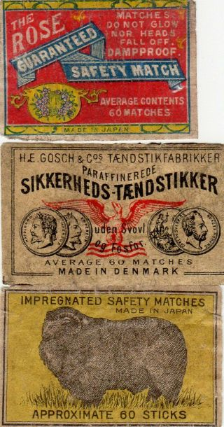 Matchbox Labels 3 Scarcer Average Contents 60 Slightly