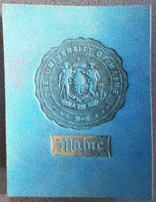 Vintage Antique Leather Tobacco Card University Of Maine C.  1910