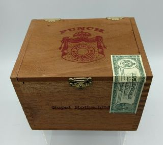 Punch Cigar Wood Box (only) Tobacco W Import Tape Honduras,  Rothschilds