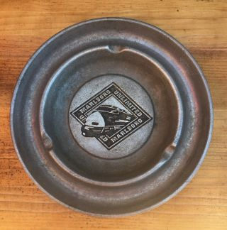 "Marlboro Unlimited Aluminum Metal Railroad Train Ashtray Vintage 5.  25 "" Diameter"