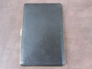 Vintage Kincraft Cigarette Case Made In England Black With Gold Interior