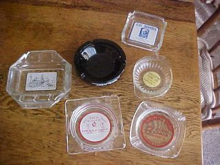 Vintage Group Of 6 Advertising Ashtray Smoking Cigarettes Tobacca