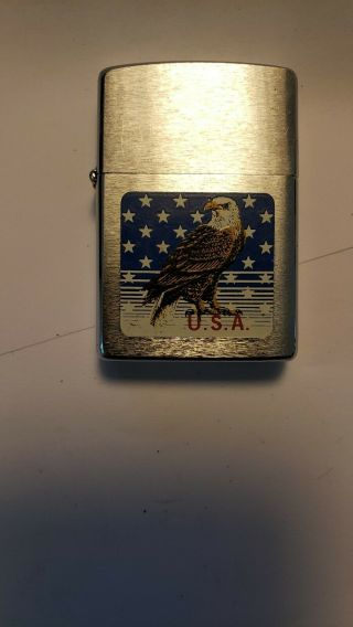 Zippo Lighter Usa Eagle Good