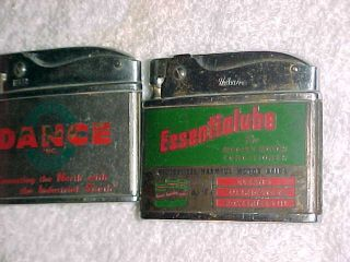 1950 - 60s Essentialube And Dance Freight Line - Advertising Lighters