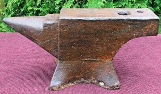 Antique Anvil 73 Lb Cast Iron Blacksmiths Tool - Great Anvil