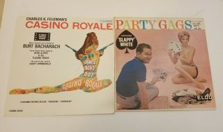 Vintage Casino Royale James Bond 007 Party Gags Pin Up Girls Vinyl Records