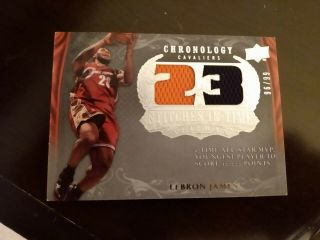 2007 - 08 Ud Chronology Lebron James Stitches In Time Dual 2 Color Jersey 96/99