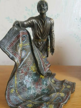 "Art Deco Franz Bergman - Austrian Cold Painted Bronze "" The Carpet Seller """