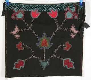 1890s Native American Chippewa / Ojibwa Indian Bead Decorated Dance Apron