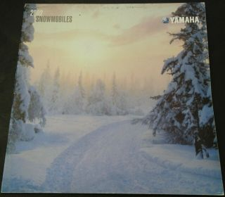 "Huge 2002 Yamaha Snowmobile Sales Brochure 28 Pages Srx 11 "" X 11 "" (451)"