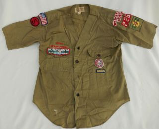 Vtg.  Boy Scouts Of America Bsa Youth Shirt W/eagle Scout Patch Sac. ,  Calif.