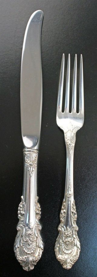 """Wallace SIR CHRISTOPHER Sterling Silver Table or Serving Spoon 8 1//2/"""" K Monogram"""