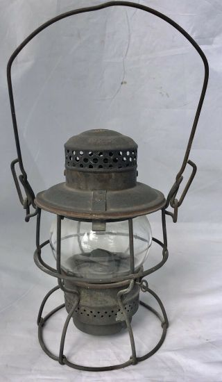 Antique Armspear Manufacturing Co.  Ny 1925 Railroad Lantern