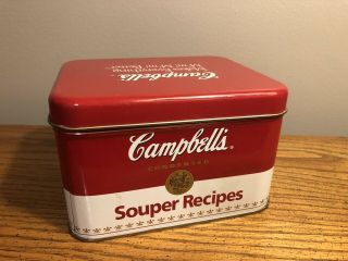 Vintage Campbell's Soup Souper Recipes Tin Collectible