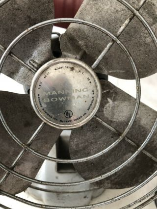 "Metal Fan Vintage Mountable Grey 10"" All Metal"