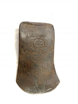 """Vintage Fayette R.  Plumb """" Autograph """" Anchor Brand Embossed Axe Head Auto Graf"""