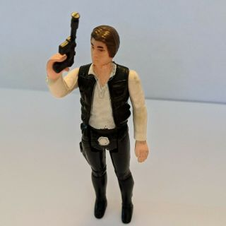 Vintage Star Wars 1977 Han Solo,  Small Head Kenner 100 Complete With Blaster
