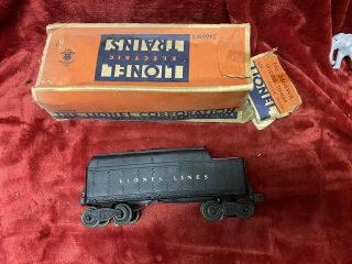 1946/47 Vintage Lionel 2466wx Whistle Tender W/orig Box Whistles Coupler