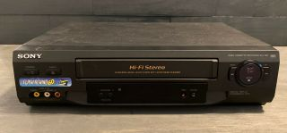 Sony Slv - N51 4 Head Hi - Fi Stereo Vhs/vcr Video Casette Player/recorder No Remote