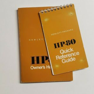Hewlett - Packard Hp80 Owners Handbook & Quick Reference Guide