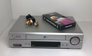 Zenith Vhs Player Vcr 4 Head With A/v Cable And Blank Tape No Remote