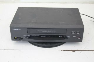 Daewoo Dv - T5dn Vcr 4 Head Vhs Video Cassette Player Recorder No Remote