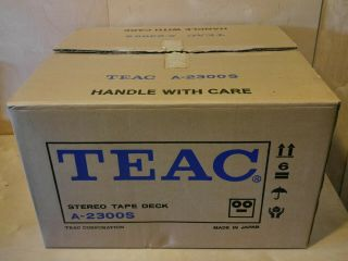 Teac A - 2300s Stereo Tape Deck Recorder Reel To Reel Box,