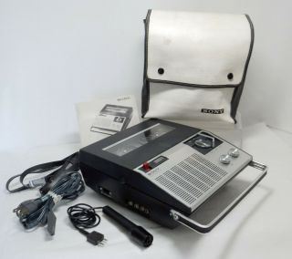 Sony Tc - 910 Reel To Reel Tape Recorder W/case,  Microphone & Instructions