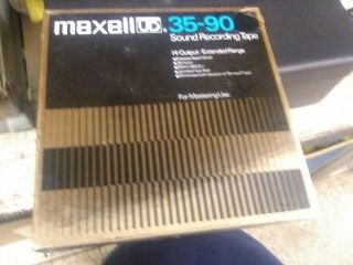 Maxwell Ud Ultra Dash Dynamic 35 - 90 Sound Recording Tapes 1800ft Nos