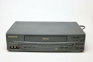 Magnavox Philips Vhs Hq 4 Head Stereo Vcr Vr601bmg23 Recorder Player -