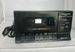 Realistic Scp - 32 Stereo Cassette Tape Player W/ Auto Reverse Dolby System 14 - 600