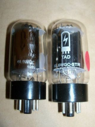 Amp Doctor Tad 6l6wgc - Str 6l6 Matched Pair Vacuum Tubes