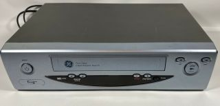 Ge Vg4065 Vcr Vhs Player 4 Head Hq Video Cassette Recorder &