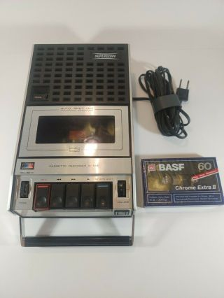 Superscope Cassette Recorder Player C103a W/power Cord Blank Tape