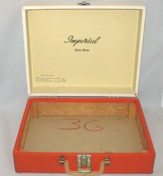 Vtg Imperial Solid State Model 100 Portable Phonograph Record Player Box Only