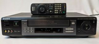 Sony Slv - M20hf Vhs Vcr Plus Video Cassette Recorder W/ Rmt - V250 Remote -