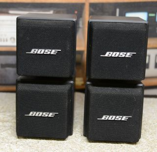 2 Bose Am - 5 Acoustimass Double Cube Speakers With Direct / Refelcting Switch