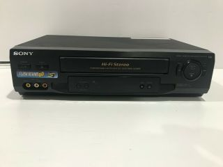 Sony Slv - N51 4 - Head Hi - Fi Stereo Vcr Vhs Player Video Cassette Recorder No Eject