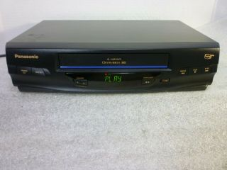 Panasonic Vcr Omnivision Player Recorder Vhs (japan) Serviced No Remote